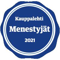 Kauppalehti Menestyjät 2021 sertifikaatti Asennustekniikka Lyytinen