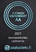 Suomen vahvimmat AA sertifikaatti Asennustekniikka Lyytinen
